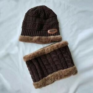 Boys winter hats and scarves set boys Girls add thick hats and necklaces 2022