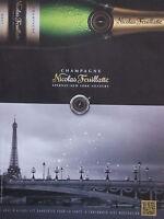 PUBLICITÉ DE PRESSE CHAMPAGNE NICOLAS FEUILLATTE EPERNAY - ADVERTISING
