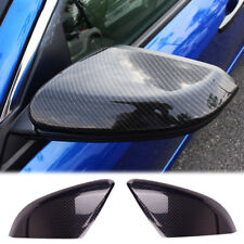 Side Door Mirror Wing Carbon Fiber Trim Cover Molding For Honda Civic 2016 2017