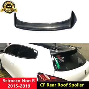Scirocco Rear Roof Spoiler Carbon Wing for VW Scirocco Non-R 2015-19 O Style