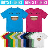Gamer Smile Kids T-Shirt Youtuber Player Fan Jelly Viral Birthday Gift Tee