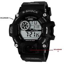 Reloj militar S-SHOCK Deporte-digital-Crono-Alarma-negro