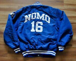 HIDEO NOMO #16 LOS ANGELES DODGERS STARTER JACKET BLUE CURSIVE RARE MEN MEDIUM