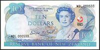 1990 New Zealand $10 Dollars Banknote * MBL 000593 * gEF * P-176 * LOW SERIAL