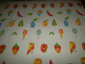 Eric Carle Full Flat Or Fitted Sheet The Very Hungry Caterpillar Food Muffin