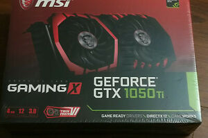 NEW MSI GeForce GTX 1050 Ti GAMING X 4G 4GB 128-Bit GDDR5 Video Graphics Card