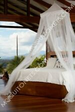 Mosquito Net. Polyester Temple. White. For Single to King beds