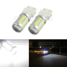 2PCS Pure White 3157 3156 3057 3047 33SMD 5730 Super Bright LED Bulbs for DRL