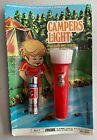 Vintage 1960s Red Camper's Light Children's Toy Flashlight - Hong Kong - NOS