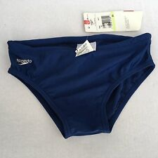 Speedo Swim Brief Mens Size 30 Navy Blue Suit Spandex Lycra Swimming Bikini