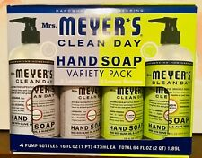 Mrs. Meyer's Clean Day Hand Soap 4-Pack (2 Lavender & 2 Lemon verbena) 16oz each