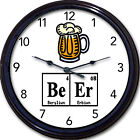 """Beer Chemistry Wall Clock Mug Ale Brew Elements Periodic Table Breaking Bad 10"""""""