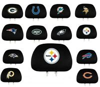 NFL Auto Head Rest Covers {Pair} Car Seat Headrest - Pick Team