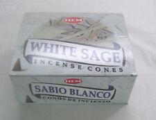 Hem White Sage Incense Cones, Bulk Lot 12 Pack of 10 Cones, 120 Total!