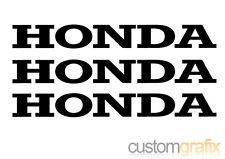 3 x Honda Moto Serbatoio BELLY PAN SWING ARM adesivo decalcomanie, qualsiasi colore