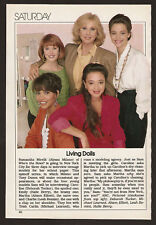 1989 tv ad ~ Living Dolls, HALLE BERRY, Leah Remini, Michael Learned