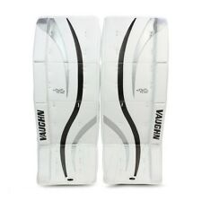 "New Vaughn LT50 Ventus Goal youth goalie leg pads 22""+2 Black/Silver ice hockey"
