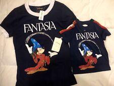 Lot Of 2 Disney Fantasia Kids Tshirt Set Navy Blue NWT Girls XS & 2T