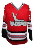 Custom Name # Kansas City Blades Retro Hockey Jersey New Red Any Size