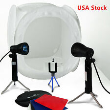 "Photo Studio 16"" Photography Light Tent Backdrop Kit 40cm Cube Lighting In"