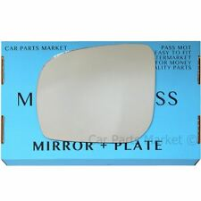 Left Passenger side Flat Wing door mirror glass for Subaru Forester 11-13 +plate