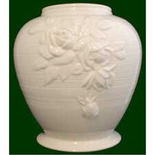 More details for royal creamware vase victorian rose art deco decorative piece size 20cm (oc67)