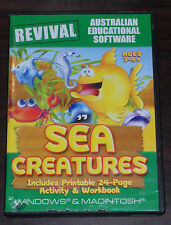 PC CD & Mac OS X. Sea Creatures. Ages 3-6+ Australian Educational Software