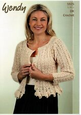 WENDY 5925 Ladies Cardigan CROCHET PATTERN  - not the finished items
