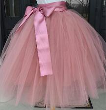 Women Girls Short Tulle Tutu A line Skirt Knee Length Prom Ballet Dress Hot
