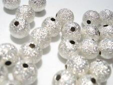 SALE~100 Shiny Silver Glittering Round Bead Rondelle/beading/craft/jewel Q13-8mm