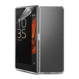 Clear Case For Sony Xperia XZ XZs TPU Gel Back Rubber Cover Skin & Screen Film
