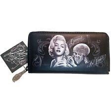DGA David Gonzales Marilyn Monroe Diamonds Tattoo Art Clutch Zipper Wallet
