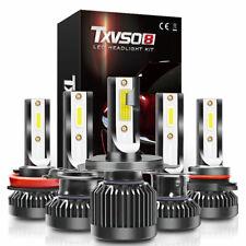 Coche H1 H7 H8 9005 9006 200W 30000LM Kit de bombillas de faros LED 6000K Canbus
