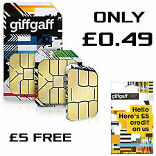 Giffgaff Giff Gaff Nano/Micro/Standard 3 in 1 SIM FREE £5, 4G UK CARD for iPhone