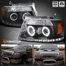 04-08 Ford F150 06-08 Lincoln Mark LT Black LED Strip Halo Projector Headlight