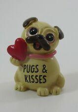 zzi Pugs & Kisses pug dog stone miniature Figurine ganz mini