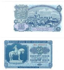 Tschechoslowakei 25 Korun 1953  kassenfrisch  Pick 84b