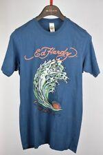 Ed Hardy Mens Bling Brown Surfs Up California Christian Audigier T Shirt S