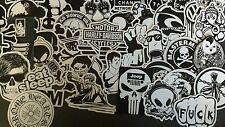 50 noir et blanc vinyle stickers autocollant joblots autocollant bombe imperméable uk jdm