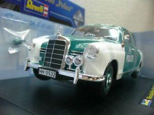 WOW EXTREMELY RARE Mercedes W120 180D Ponton 1955 Police Hamburg 1:18 Revell-116