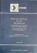 handbuch Reparaturanleitung MZ ETS 250 Trophy Sport Anleitung ES 250/2 21 PS DDR