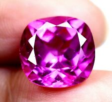 AAA Ceylon 10.80 Ct Natural Pink Sapphire Cushion Loose Gemstone Certified B5530