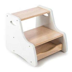 Tidlo Wooden White Step Stool
