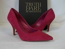 Truth Or Dare By Madonna Size 10 M Omarah Fuchsia Suede Heels New Womens Shoes