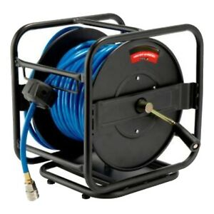 """New 100FT Air Line Hose Reel Roll Up Portable 1/4""""  Industral Commercial 300psi"""