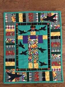 New Handmade Quilted and Embellished Fall/Scarecrow Table Runner or Wall Hanging