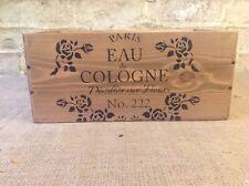 Brown Vintage Rustic Style Eau De Cologne Box Crate