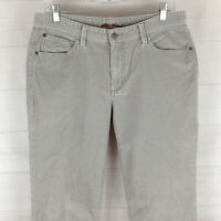 Eddie Bauer womens size 10 TALL stretch gray mid rise bootcut corduroy jeans EUC