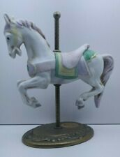 Vintage Willits Carousel Memories Americana Collection Porcelain & Brass 1-1360