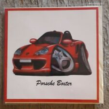 BRAND NEW MALE CARTOON PORSCHE BOXTER BLANK CARD FOR ANY OCCASION - U.K SELLER